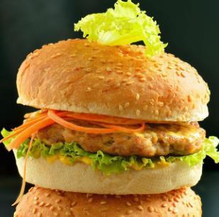巴比汉堡蔬菜夹心