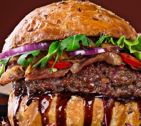 味味美汉堡满满馅料