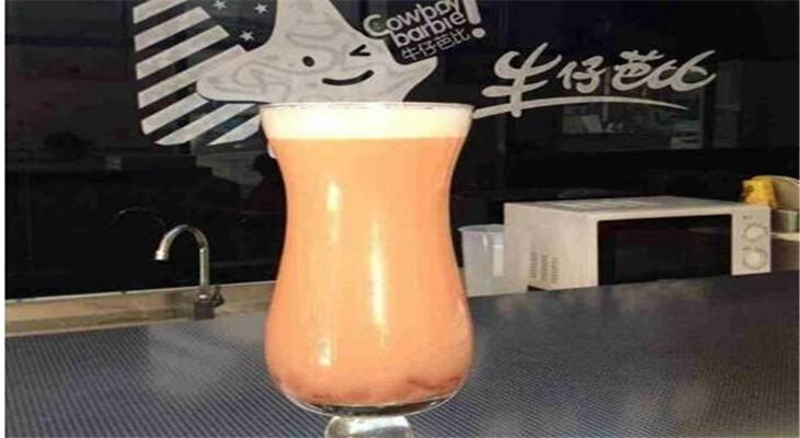 牛仔芭比奶茶店原味奶茶