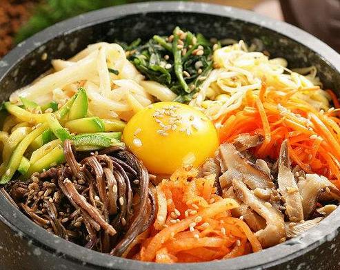 韩林膳石锅拌饭美食