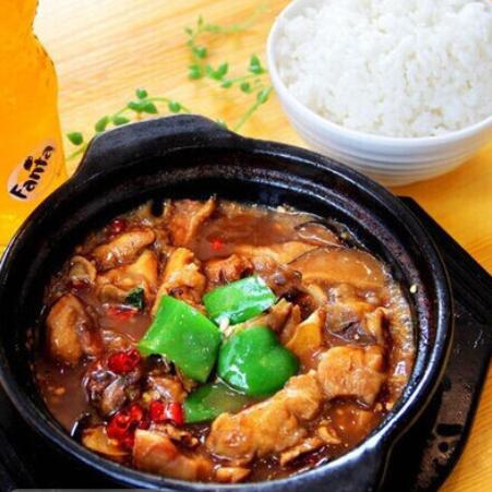 曹轩阁麻辣黄焖鸡米饭