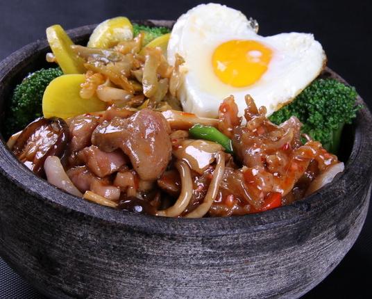 阿谷屋石锅拌饭美味