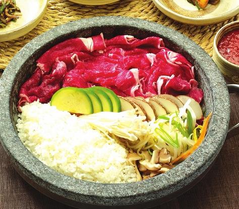 吉野家石锅饭食材满满