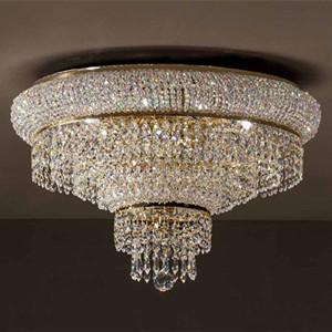 客厅琉璃水晶吸顶灯