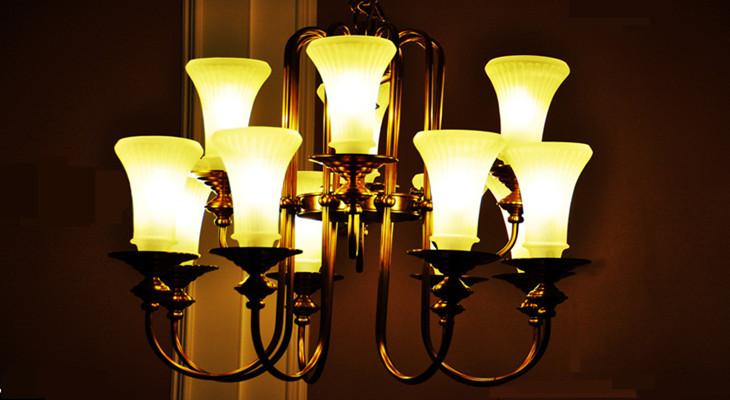 水晶蜡烛灯