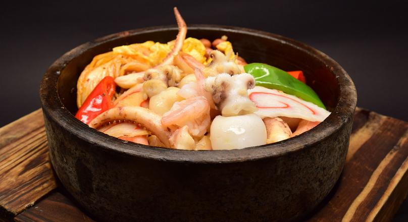 阿谷屋石锅拌饭海鲜口味