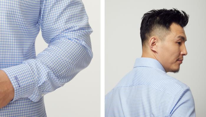 量品蓝色衬衫