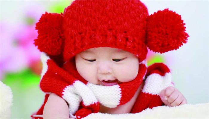 百天儿童摄影毛线帽