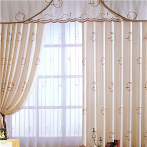 金蝉印花窗帘