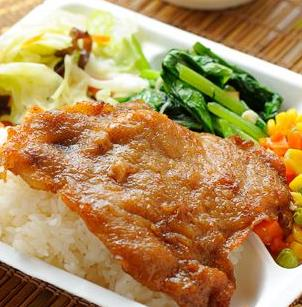 龙记香酥鸡排饭简餐