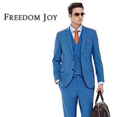 凡匠蓝色新品西装