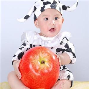 百日儿童摄影苹果