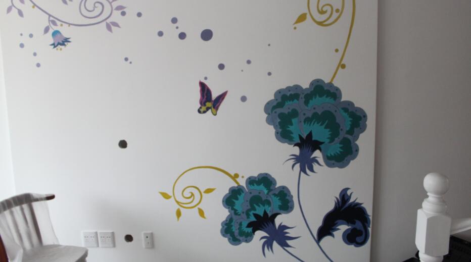 欧卓墙绘图片