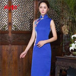 陶玉梅旗袍藍色旗袍