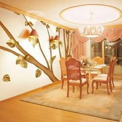 七彩空间客厅壁纸