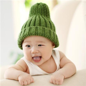 宝贝熊儿童摄影绿帽子
