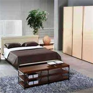 曲美家具床