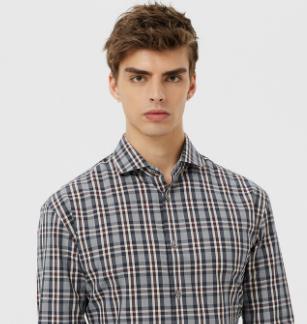 量品格子衬衫