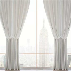金蝉白色窗帘