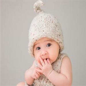 彩虹糖儿童摄影白色帽子