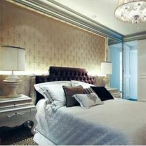 七彩空间床头壁纸