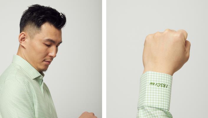 量品绿色衬衫