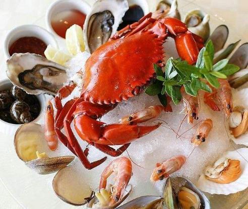 标记海鲜档螃蟹