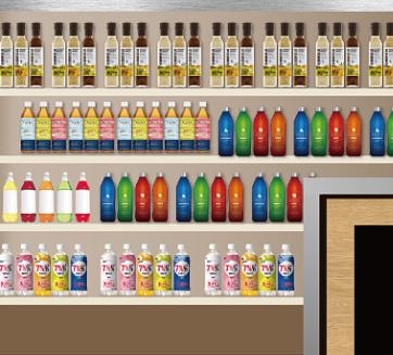 7仔便利店饮料区