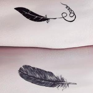 阿奇纹绣刺青羽毛
