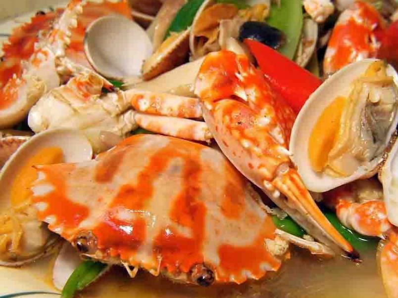 标记海鲜酒家梭子蟹