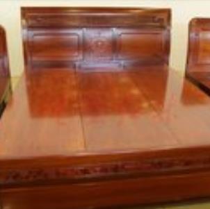 菠蘿格實木家具床
