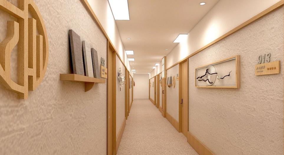 木山清芽日式酒店走廊
