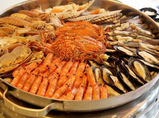 标记海鲜档大虾