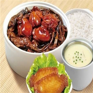 张素芝快餐店梅菜肉套餐