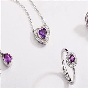 银时代饰品紫色首饰