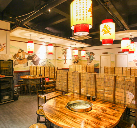 梁山烤肉店內環境