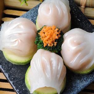 圣河湾虾饺美食水煮