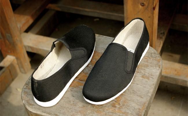鑫繡緣黑色布鞋