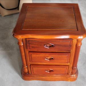 菠蘿格實木家具床頭柜