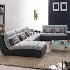 米思尼布艺沙发坐着
