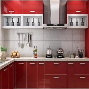 藍谷整體廚柜紅色
