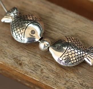 親嘴魚銀飾珍貴