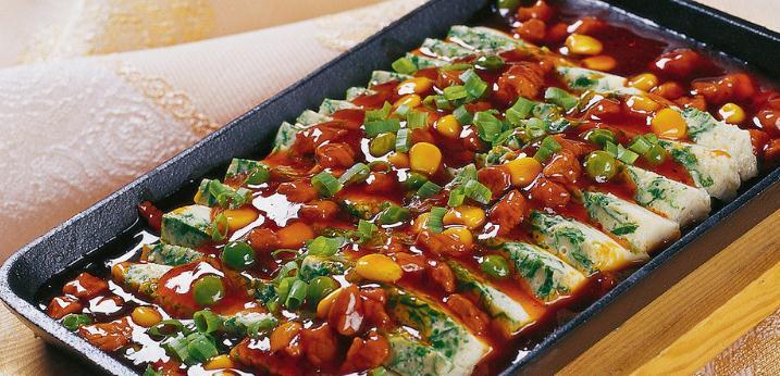 犇小铁板香菜豆腐