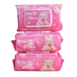 邦可士湿巾粉色包装