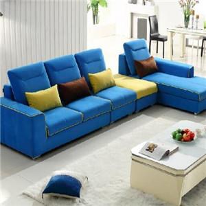 摩地纳布艺沙发蓝色