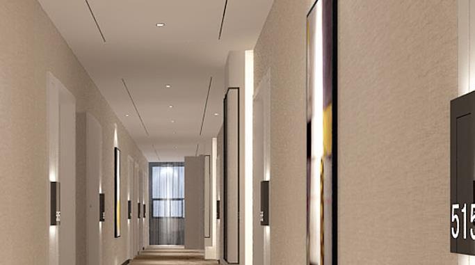 八方酒店走廊干净