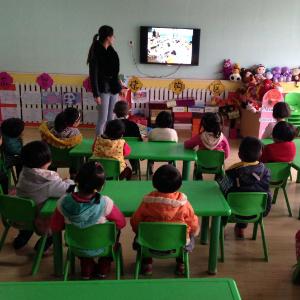 回龙观童学园幼儿园上课