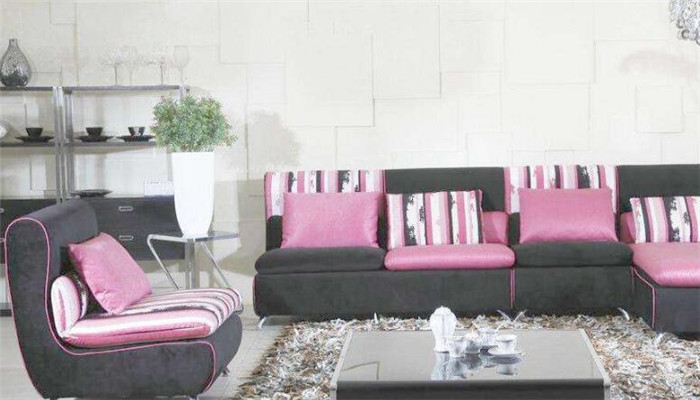 摩地纳布艺沙发粉色