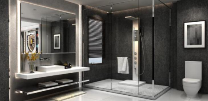 欧帝洁集成热水器浴室