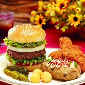 堡里乐汉堡口感好